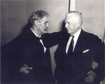 Albert Schweitzer and Wallace Goodrich, 1949