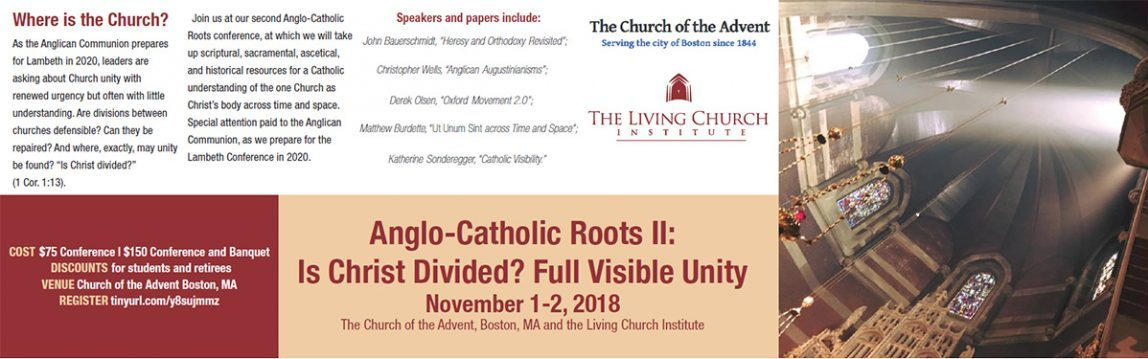 next Anglo-Catholic Conference announcement